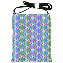 Colorful Retro Geometric Pattern Shoulder Sling Bags by DanaeStudio