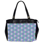 Colorful Retro Geometric Pattern Office Handbags (2 Sides)  Front