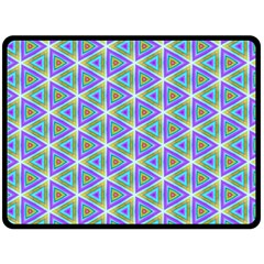 Colorful Retro Geometric Pattern Fleece Blanket (large)  by DanaeStudio