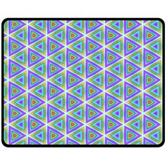 Colorful Retro Geometric Pattern Fleece Blanket (medium)