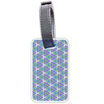 Colorful Retro Geometric Pattern Luggage Tags (One Side)  Front