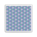 Colorful Retro Geometric Pattern Memory Card Reader (Square)  Front
