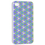 Colorful Retro Geometric Pattern Apple iPhone 4/4s Seamless Case (White) Front