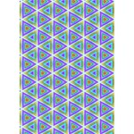 Colorful Retro Geometric Pattern LOVE 3D Greeting Card (7x5) Inside