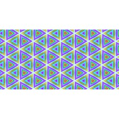 Colorful Retro Geometric Pattern You Are Invited 3d Greeting Card (8x4) by DanaeStudio