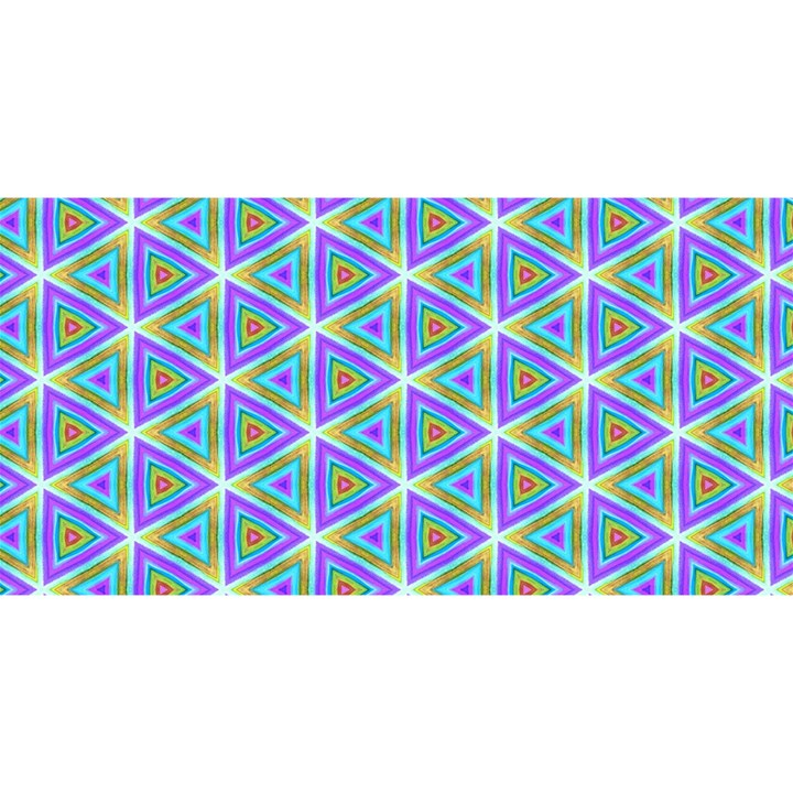 Colorful Retro Geometric Pattern YOU ARE INVITED 3D Greeting Card (8x4)