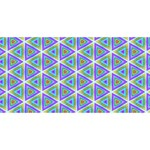 Colorful Retro Geometric Pattern Best Wish 3D Greeting Card (8x4) Front