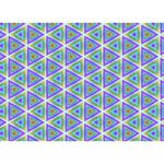 Colorful Retro Geometric Pattern You Rock 3D Greeting Card (7x5) Front