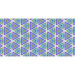 Colorful Retro Geometric Pattern Congrats Graduate 3D Greeting Card (8x4) Back
