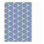 Colorful Retro Geometric Pattern Small Garden Flag (Two Sides) Back