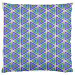 Colorful Retro Geometric Pattern Large Cushion Case (Two Sides) Back