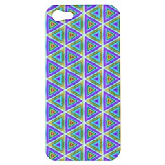 Colorful Retro Geometric Pattern Apple Iphone 5 Hardshell Case