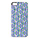 Colorful Retro Geometric Pattern Apple iPhone 5 Case (Silver)