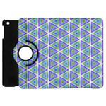Colorful Retro Geometric Pattern Apple iPad Mini Flip 360 Case