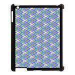 Colorful Retro Geometric Pattern Apple iPad 3/4 Case (Black) Front