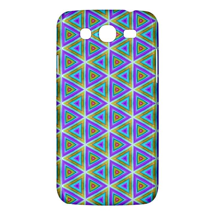 Colorful Retro Geometric Pattern Samsung Galaxy Mega 5.8 I9152 Hardshell Case