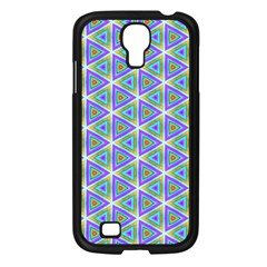 Colorful Retro Geometric Pattern Samsung Galaxy S4 I9500/ I9505 Case (black) by DanaeStudio