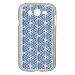 Colorful Retro Geometric Pattern Samsung Galaxy Grand DUOS I9082 Case (White) Front