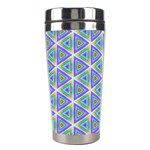 Colorful Retro Geometric Pattern Stainless Steel Travel Tumblers Left