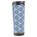 Colorful Retro Geometric Pattern Travel Tumbler Left
