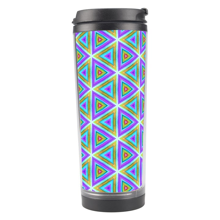 Colorful Retro Geometric Pattern Travel Tumbler