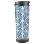 Colorful Retro Geometric Pattern Travel Tumbler Center