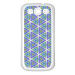 Colorful Retro Geometric Pattern Samsung Galaxy S3 Back Case (White)
