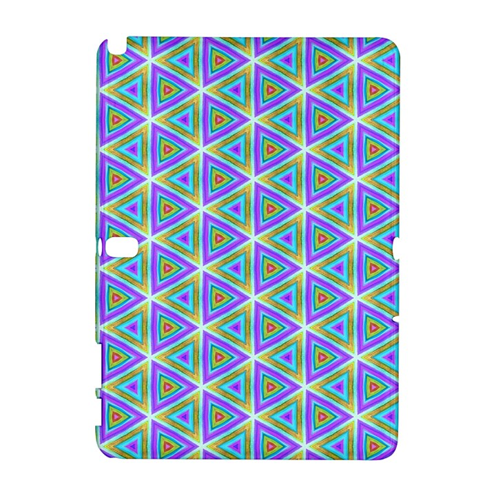 Colorful Retro Geometric Pattern Samsung Galaxy Note 10.1 (P600) Hardshell Case