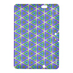 Colorful Retro Geometric Pattern Kindle Fire Hdx 8 9  Hardshell Case by DanaeStudio