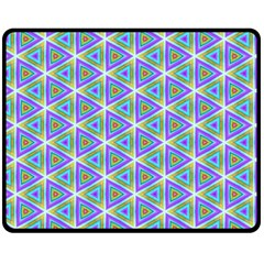 Colorful Retro Geometric Pattern Double Sided Fleece Blanket (medium)  by DanaeStudio