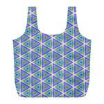 Colorful Retro Geometric Pattern Full Print Recycle Bags (L)  Back