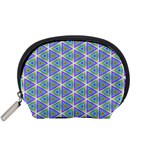 Colorful Retro Geometric Pattern Accessory Pouches (Small)  Front