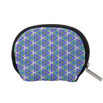 Colorful Retro Geometric Pattern Accessory Pouches (Small)  Back
