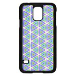 Colorful Retro Geometric Pattern Samsung Galaxy S5 Case (Black) Front