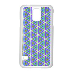 Colorful Retro Geometric Pattern Samsung Galaxy S5 Case (white) by DanaeStudio