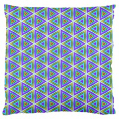 Colorful Retro Geometric Pattern Standard Flano Cushion Case (one Side)