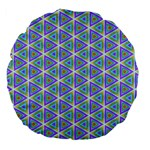 Colorful Retro Geometric Pattern Large 18  Premium Flano Round Cushions Front