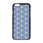 Colorful Retro Geometric Pattern Apple iPhone 6/6S Black Enamel Case Front