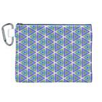 Colorful Retro Geometric Pattern Canvas Cosmetic Bag (XL)