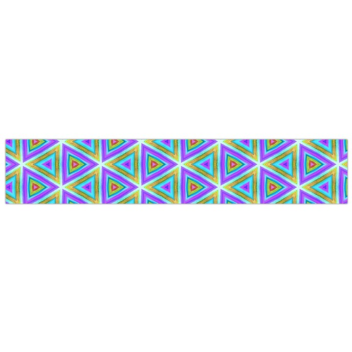 Colorful Retro Geometric Pattern Flano Scarf (Large)