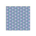 Colorful Retro Geometric Pattern Satin Bandana Scarf Front