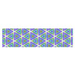 Colorful Retro Geometric Pattern Satin Scarf (Oblong) Front