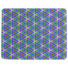 Colorful Retro Geometric Pattern Jigsaw Puzzle Photo Stand (rectangular)