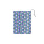 Colorful Retro Geometric Pattern Drawstring Pouches (XS)  Front
