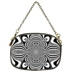 Black And White Ornamental Flower Chain Purses (Two Sides)