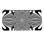 Black And White Ornamental Flower Pencil Cases