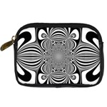 Black And White Ornamental Flower Digital Camera Cases Front