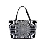 Black And White Ornamental Flower Shoulder Handbags