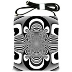 Black And White Ornamental Flower Shoulder Sling Bags