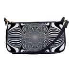 Black And White Ornamental Flower Shoulder Clutch Bags